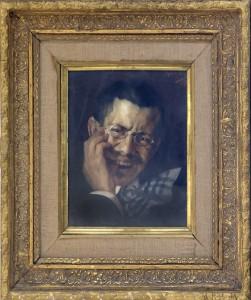 Aleksic Stevan (1876-1923), Avtoportret, 1911-13, maslo na platno, 36x29