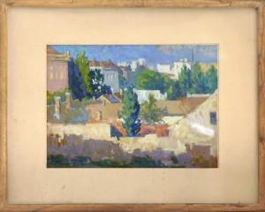 Avramovic Ante, Pejzaz, 1945, tempera na hartija, 35x48,5