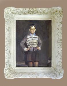 Babic LJubo (1890-1974), Portret na sinot, 1946, maslo na platno, 46x34,5