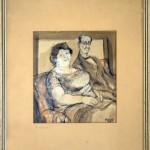 Beskov Ilija, Sopruzi, 1937, akvarel, 21x19