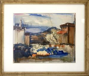 Bijelic Jovan, Dubrovnik,kraj na triesettite godini na 20 vek,akvarel, 42,5x51,5