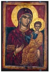 Bogorodica Odigitrija, kraj na 16 vek, crkva Sveti Arhangel Mihail, manastir Oreovec, Makedonski Brod