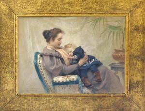 Bukovac Vlaho, Majka so dete, 1894, maslo na platno, 96x125