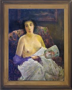 Bukovac, Vlaho, Portret na madam Eli, 1887, maslo na platno, 90x74