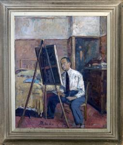 Celebonovic Marko, Avtoportret, 1940, maslo na platno, 64x54
