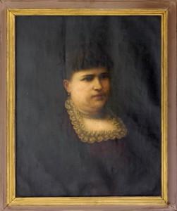 Danil Konstantin (1798-1873), Portret na Marija (soprugata na P. Stojanovic) 1872, maslo na platno, 66x53