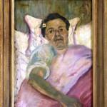 Dobrovic Petar (1890-1942), Slikarot Job na bolnicka postela, okolu 1936, maslo na lesonit, 67,5x48
