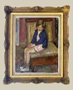 Filakovac Vladimir (1892-1972) Devojce vo fotelja 1936, maslo na platno, 70x57