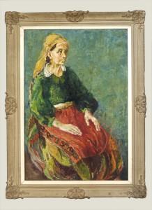 Graovac Nikola, Prizrenka, 1950, maslo na platno, 93x62