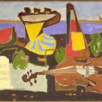 Hadzi Ristic Nikola, Mrtva  priroda 1958, maslo na platno,  53x116