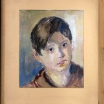Hakman Kosta (1899-1961) Portret, pred 1946, akvarel na hartija, 29x25