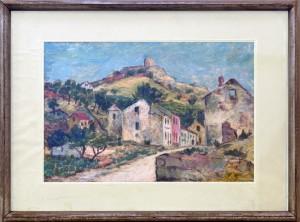 Huter Anton (1905-1961) Razurnat Prozor, 1946, maslo na sper,25x44