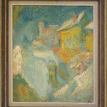 Jakopic Rihard (1869-1943), Pogled na grad (pejzaz), maslo na platno, 82,5x73