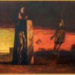 Jordan Vasilije (1934-), Apokalipticen motiv IV,1960, maslo na sper