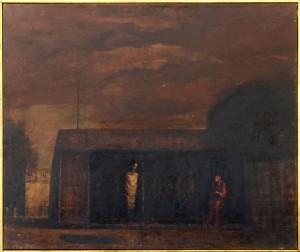 Jordan Vasilije (1934-), Majcinstvo II, maslo na platno, 68x80
