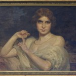Jovanovic Paja (1859-1957) Portret na dama, maslo na platno, 63,5x78,5