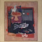 Kangrga Olivera (1923-) Mrtva Priroda, 1958, maslo na platno, 118x103