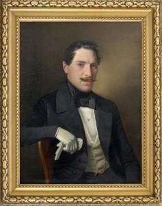 Konstantin Danil (1798-1873), Maski portret vo beli rakavici, maslo na platno