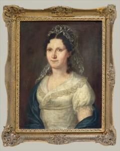 Konstantin Danil (1798-1873) Zenski portret vo cipki, do 1820, maslo na platno, 64x50,5