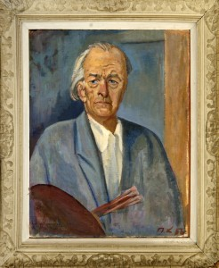 Krizanic Pjer (1890-1962), Avtoportret, 1956, maslo na platno, 65x54