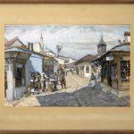 Krizman Tomislav (1882-1995), Motiv od Skopje, 1947, akvarel na hartija, 39,5x55