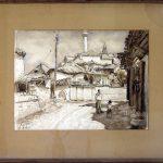 Krizman Tomislav (1882-1995), Motiv od Skopje, 1947, akvarel na hartija, 40x53