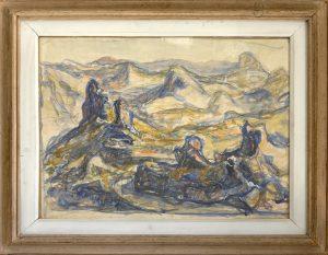 Lubarda Petar (1907-1974), Pejzaz od Crna Gora, 1949, akvarel na hartija, 50x66
