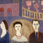 Lukovic Aleksandar, (1924-), Cirkus, 1955, maslo na platno, 80,5x100