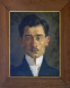 Milicevic Kosta (1887-1920), Portret na Poljak,1910,maslo na platno, 36x30