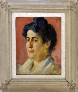 Milicevic Kosta (1887-1920), Zenski portret, 1910, maslo na platno, 38,5x34
