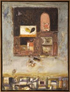 Miljus Branko (1936-), Kompozicija, 1960, maslo na platno, 67,5x47,5
