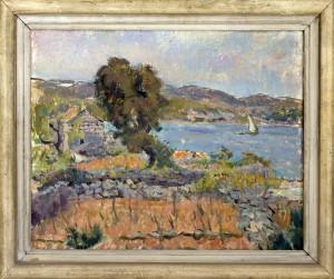 Mise Jerolim (1890-1970), Pejzaz 1940, maslo na platno, 42x51