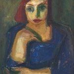 469. Мазев Петар, Црвенокоса,1950, масло на платно,71х63,5 _